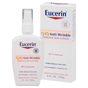 Eucerin Sensitive Skin Q10 Anti-Wrinkle Lotion - 4 Oz