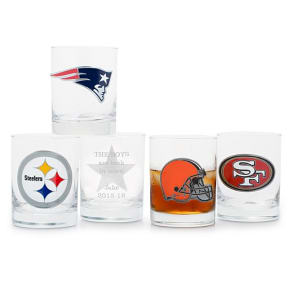 Nfl Double Old Fashioned Glass - Whiskey & Rocks Glasses - Cocktail Glasses - Bar Glasses & Drinkware - His Gifts - Personalized At Things Remembered