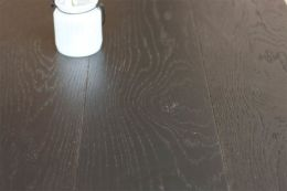Natural Engineered Oak Jet Black Brushed UV Lacquered 15/4mm By 200mm By 2200mm
