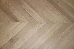 Select Engineered Flooring Oak Chevron Brushed White Oiled Two 18/5mm By 90mm By 850mm