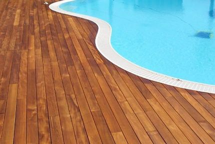 Iroko Hardwood Decking Boards Using Hidden Fixing 20mm By 120mm By 1500-3050mm
