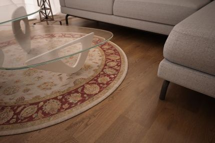 Natural Engineered Oak Smoked Brushed Uv Oiled 15/4mm By 260mm By 2200mm