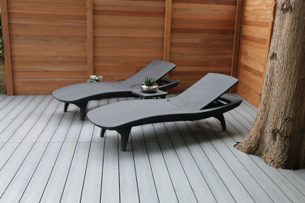 Supremo WPC Composite Decking Boards Silver Grey 22mm By 142mm By 2900mm