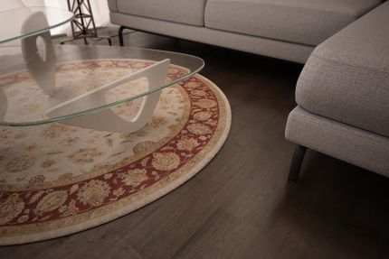 Natural Engineered Flooring Oak Black Tea Brushed UV Oiled 20/5mm By 180mm By 1900mm