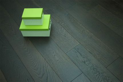 Natural Engineered Flooring Oak Click Black Tea Brushed UV Oiled 14/3mm By 190mm By 1860mm