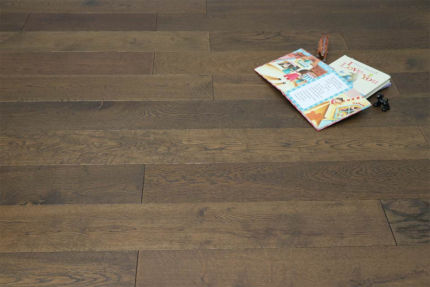 Natural Engineered Flooring Oak Click Coffee Brushed UV Oiled 14/3mm By 190mm By 1900mm