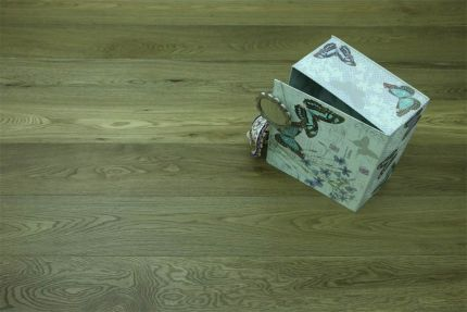 Natural Engineered Flooring Oak Dark Smoked Brushed UV Oiled 14/3mm By 190mm By 1900mm