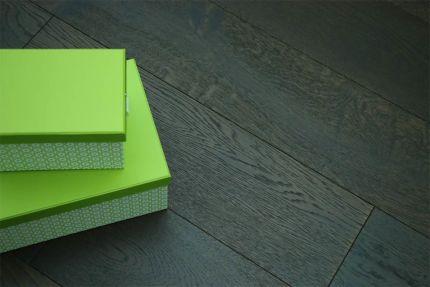 Rustic Engineered Flooring Oak Black Tea Brushed UV Oiled 10/3mm By 150mm By 600-1900mm