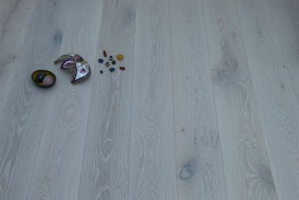 Select Engineered Flooring Oak Click London White Brushed UV Oiled 14/3mm By 190mm By 1900mm