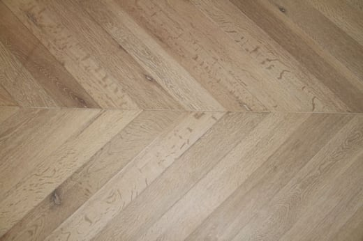 Select Engineered Oak Chevron Brushed White Oiled 18/5mm By 90mm By 650mm