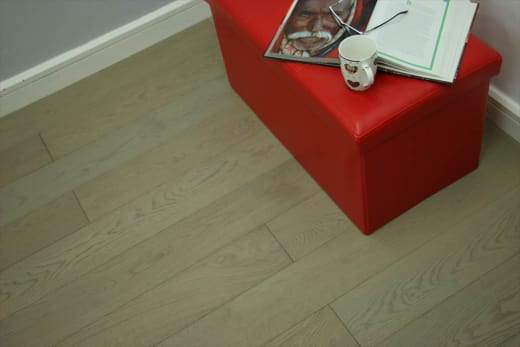 Natural Engineered Flooring Oak UK Grey Brushed UV Oiled 15/4mm By 260mm By 1900mm