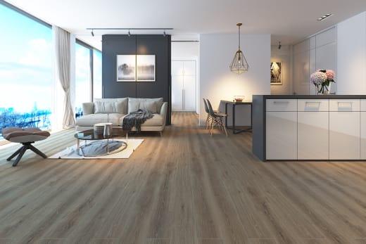 San Marin Light Grey Oak Laminate Flooring 8mm By 195mm By 1380mm