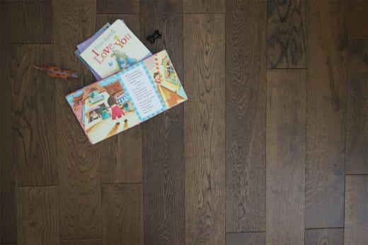 Natural Engineered Flooring Oak Coffee Brushed UV Oiled 14/3mm By 220mm By 2200mm