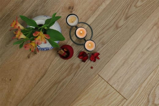 Natural Engineered Oak Brushed UV Oiled 14/3mm By 150mm By 400-1500mm