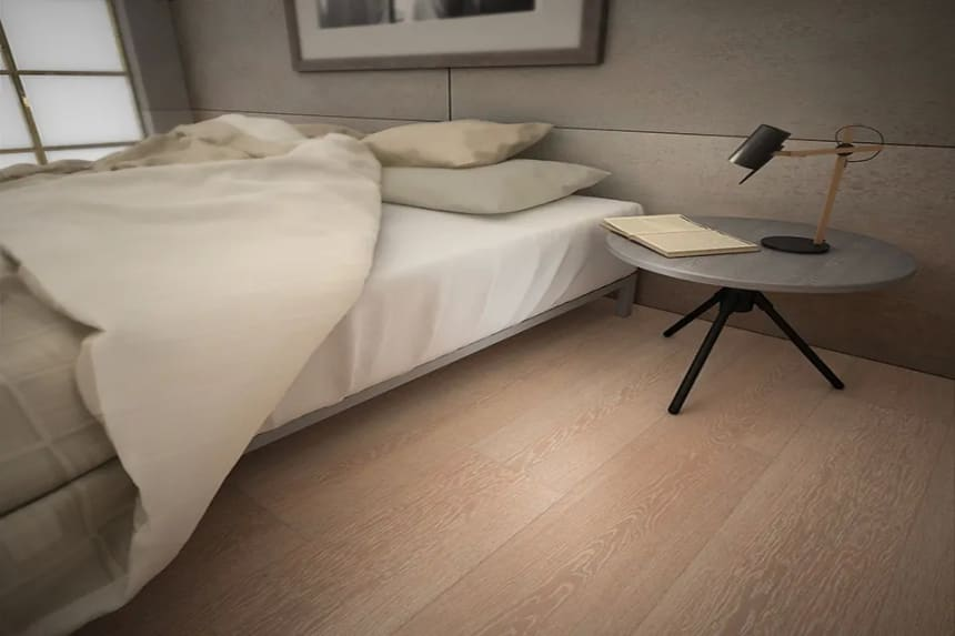 Select Engineered Flooring Oak Click Sunny White Brushed UV Oiled 14/3mm By 195mm By 1000-2400mm