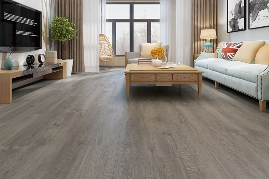 Flooring Vinyl Click Flooring Orion Grey 4.2mm By 178mm By 122