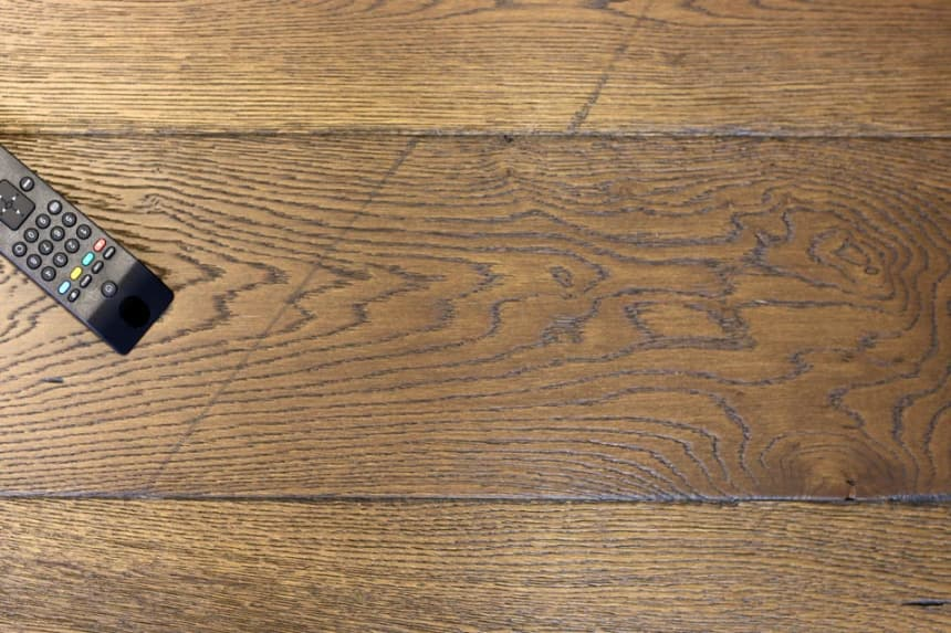 Natural Engineered Flooring Oak Reclaim Brown Brushed UV Oiled 15/4mm By 220mm By 2200mm