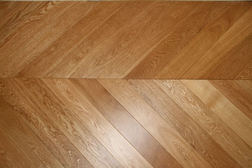 Prime Engineered Oak Chevron UV Lacquered 18/5mm By 90mm By 850mm