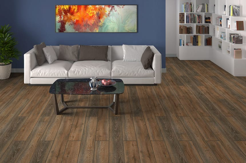 Cousteau Oak Laminate Flooring 12mm By 193mm By 1380mm