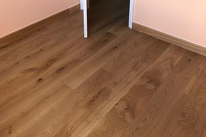 Natural Solid Flooring Oak Country UV Oiled 20mm By 180mm By 500-2000mm