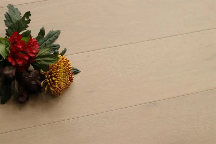 Natural Engineered Flooring Oak Click Milan White Brushed UV Oiled 14/3mm By 190mm By 1900mm