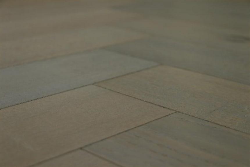 Natural Engineered Flooring Oak Herringbone Antique Grey Hardwax Oiled 16/4mm By 120mm By 580mm