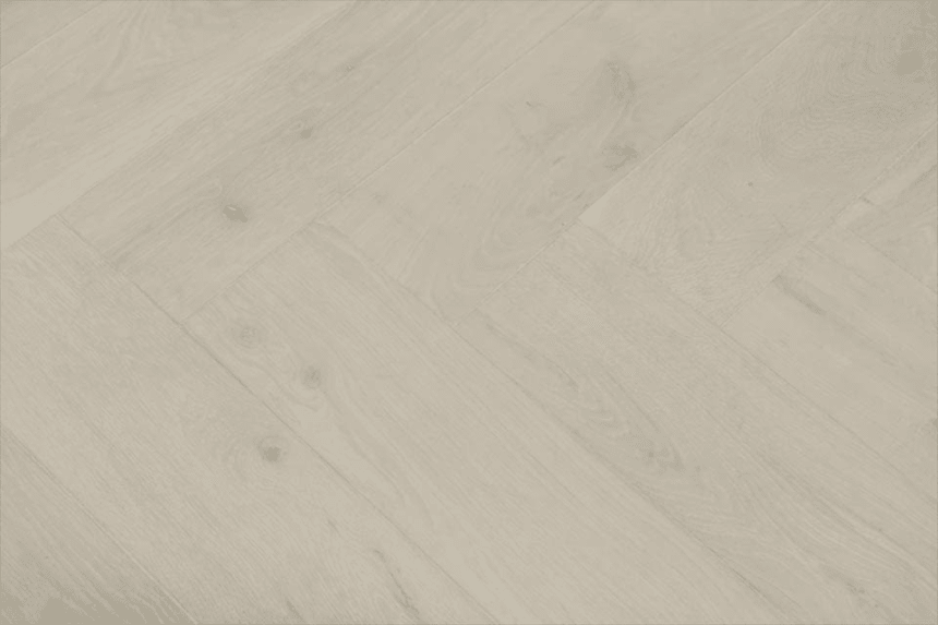 Natural Engineered Flooring Oak Herringbone Bianco Hardwax Oiled 16/4mm By 120mm By 580mm