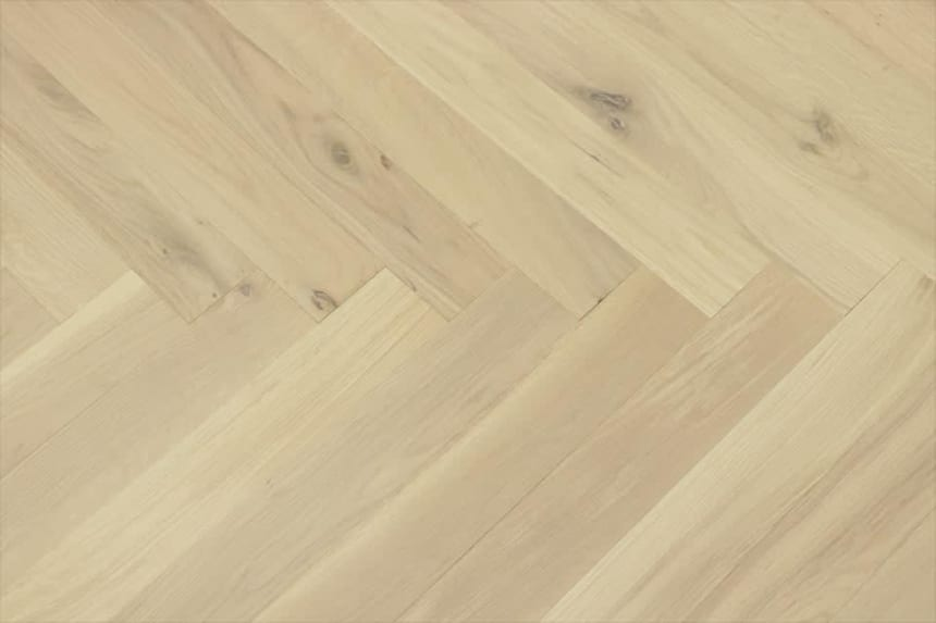 Natural Engineered Flooring Oak Herringbone Non Visible UV Oiled 14/3mm By 120mm By 600mm