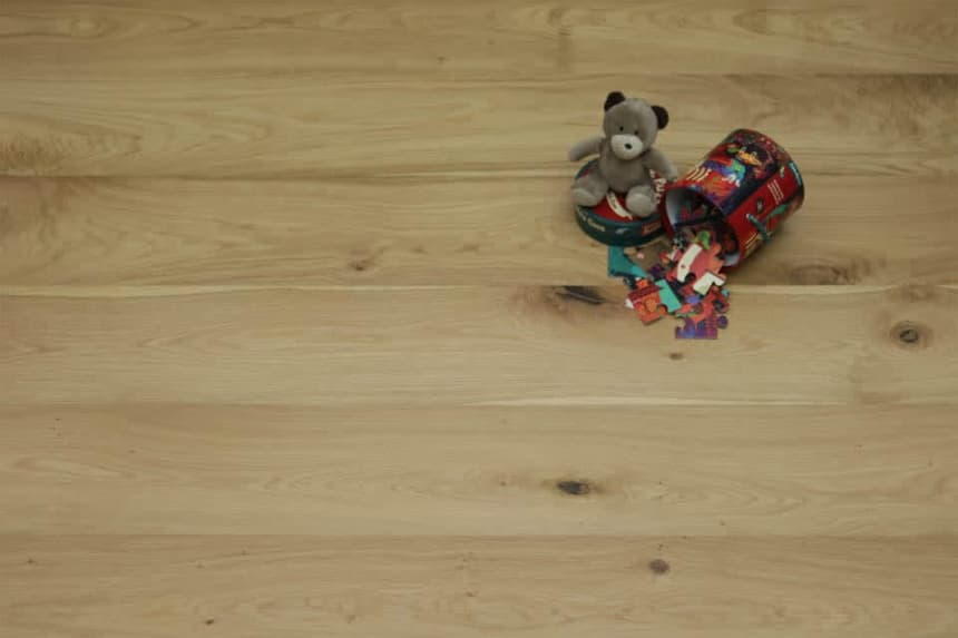 Natural Engineered Flooring Oak UV Oiled 14/3mm By 220mm By 1800mm