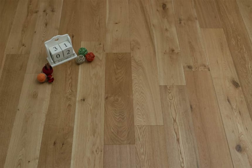 Natural Engineered Flooring Oak UV Oiled 20/5mm By 220mm By 1800-2400mm