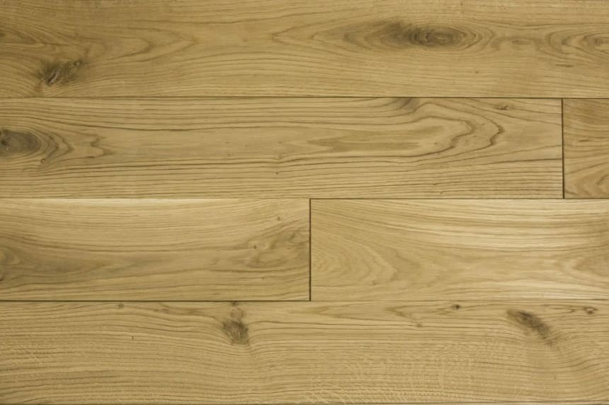 Natural Solid Flooring Oak Brushed Hardwax Oiled 20mm By 120mm By 500-1900mm