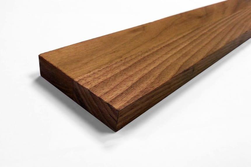 Premium American Walnut Kitchen Worktop Upstand 18mm By 80mm By 3000mm
