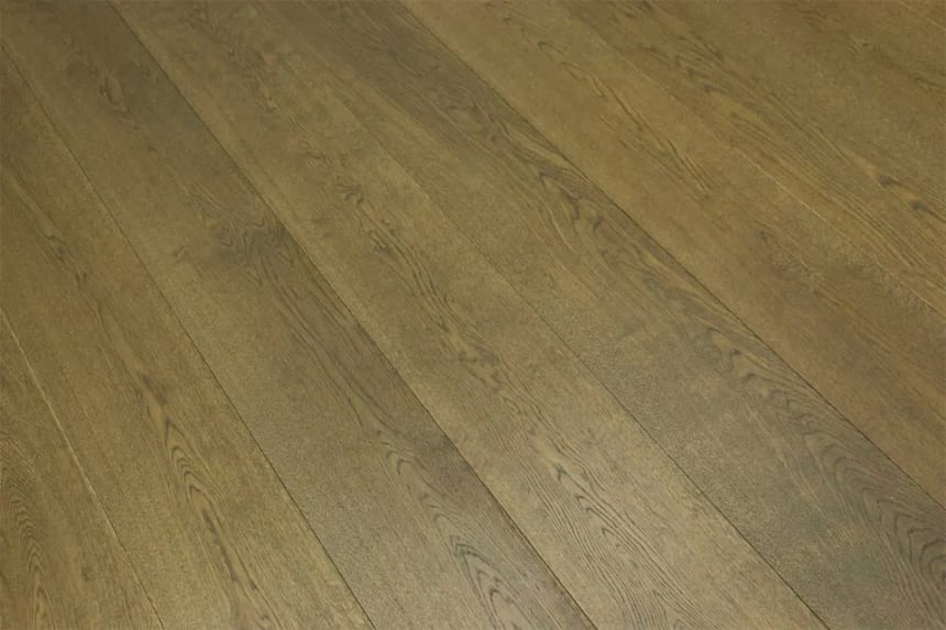 Prime Engineered Flooring Oak Click Coffee Brushed UV Oiled 14/3mm By 146mm By 1605mm