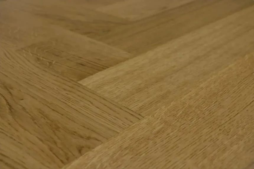 Prime Engineered Flooring Oak Herringbone Smoked Colour Brushed UV Matt Lacquered 14/3mm By 98mm By 790mm