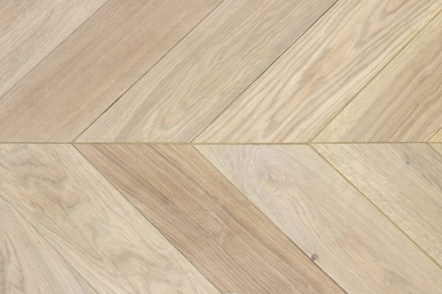 Select Engineered Flooring Oak Chevron Vienna Brushed HardWax OIled 16/4mm By 120mm By 580mm