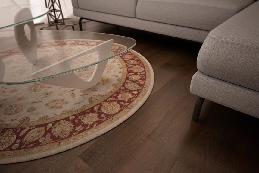 Select Engineered Flooring Oak Click Coffee Brushed UV Oiled 14/3mm By 190mm By 1900mm