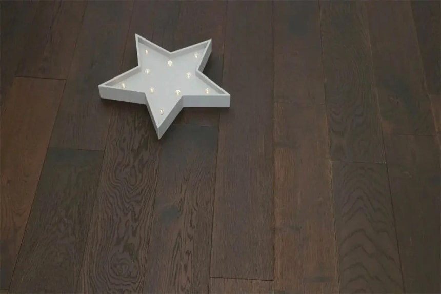 Natural Engineered Flooring Oak Black Tea UV Oiled 14/3mm By 190mm By 1900mm