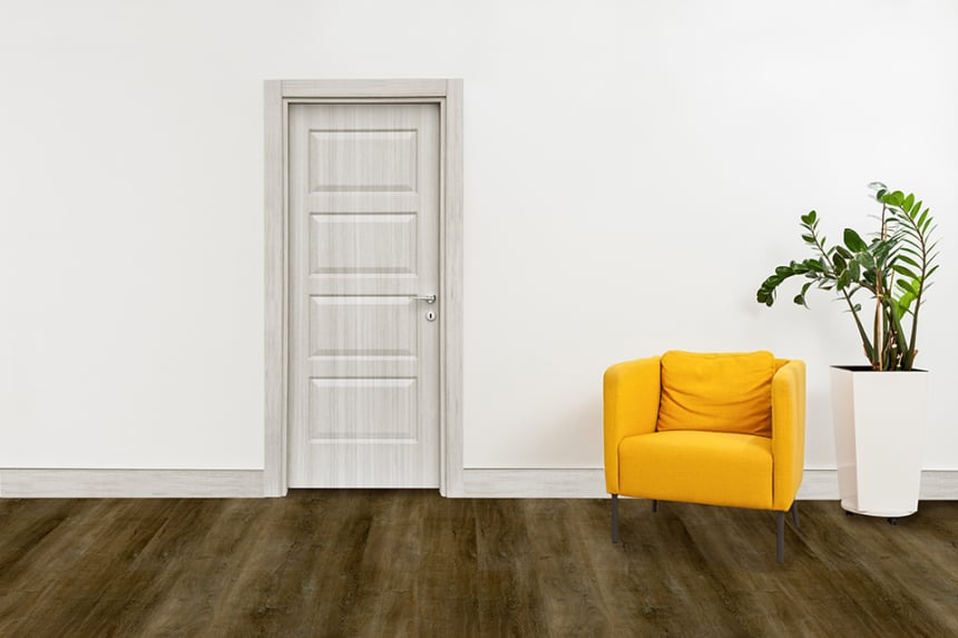 Luxury Click Vinyl Flooring Double Smoked 5mm By 169mm By 1210mm