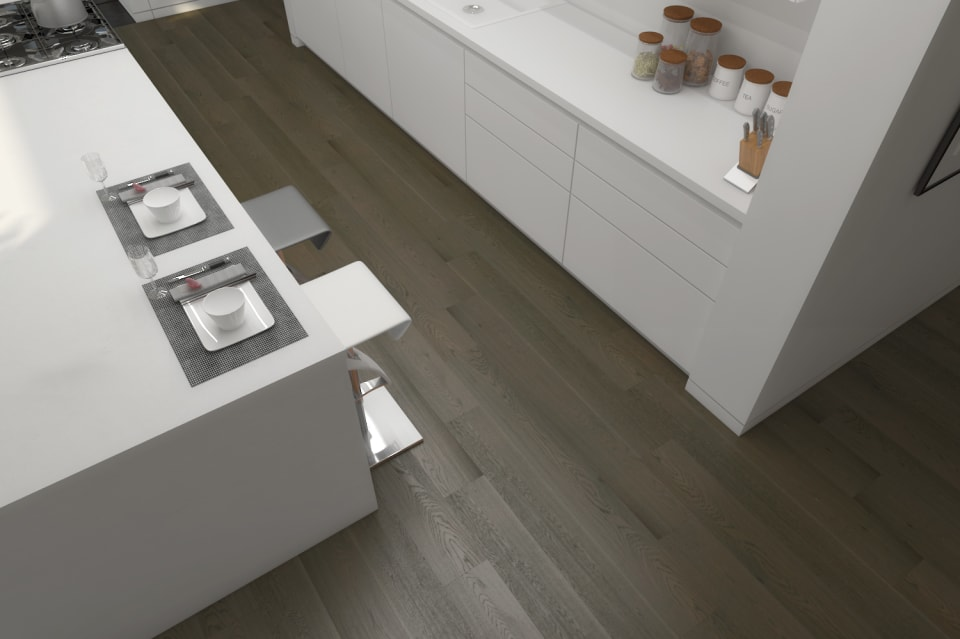 Select Engineered Flooring Oak Click Light Grey Brushed Uv