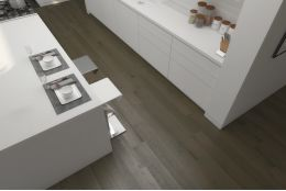 Select Engineered Flooring Oak Click Light Grey Brushed UV Lacquered 14/3mm By 189mm By 1860mm