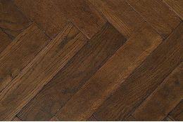 Prime Engineered Oak Herringbone Dark Smoked Brushed UV Oiled 15/3mm By 97mm By 582mm