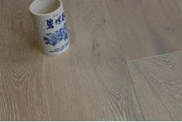 Natural Engineered Flooring Oak Brushed White UV Oiled 14/3mm By 180mm By 400-1500mm