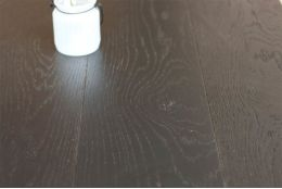 Natural Engineered Oak Jet Black Brushed UV Lacquered 15/4mm By 220mm By 2200mm