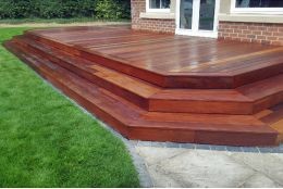 Ipe Hardwood Decking Boards Using Hidden Fixing 21mm By 140mm By 1300-3050mm