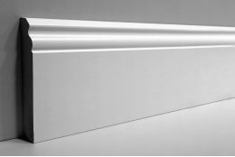 White MDF Skirting Board 120mm by 15mm by 2400mm