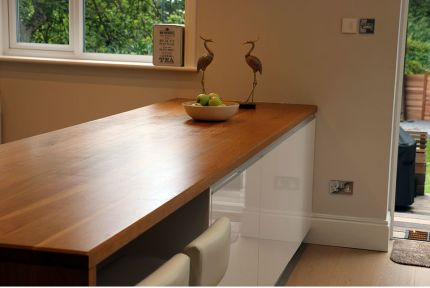 Full Stave Premium Oak Worktop 25mm By 750mm By 2000mm
