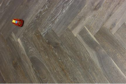 Natural Engineered Flooring Oak Herringbone Cemento Hardwax Oiled 16/4mm By 120mm By 700mm