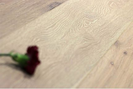 Natural Engineered Flooring Oak Click Brushed White UV Oiled 14/3mm By 190mm By 1900mm