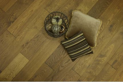 Natural Engineered Oak Smoked Brushed UV Oiled 14/3mm By 150mm By 400-1500mm