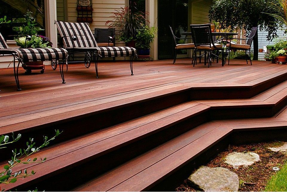 Wood Deck Boards ~ Red balau hardwood decking boards using hidden fixing mm